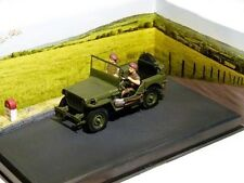 1/43 - IXO - DIORAMA LA ROUTE BLEUE - JEEP WILLYS + 2 PERSONNAGES