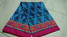 Ikkat prints on soft silk sarees with contrast pallu,blouse.