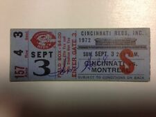 1972 Ticket Stub Cincinnati Reds vs Expos Signed by Winning Pitcher Tom Hall COA