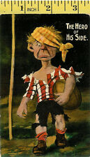 """Millar and Lang """"The Hero of His Side"""" vintage rugby postcard"""