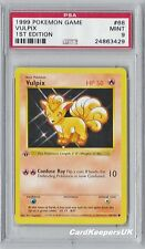 Pokemon Card Vulpix 68/102 1st Edition Shadowless Base 1 Set PSA 9 MINT