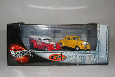 Hot Wheels Cool and custom 2 cars set '37 Chevy Funny Car, '37 Chevy ship WW
