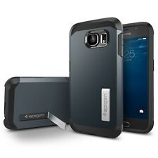 Spigen Galaxy S6 Case Tough Armor Metal Slate
