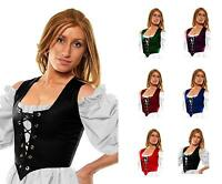 RENAISSANCE COSTUME DRESS-UP MEDIEVAL BODICE TOP PIRATE WENCH REVERSIBLE CORSET