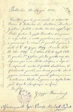 Saltocchio Chiesa S. Andrea - Lucca - Certificato di Povertà e Miserabilità 1880