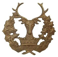 WW1 THE GORDON HIGHLANDERS CAP BADGE BRASS METAL