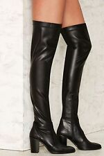 Crosswalk That's a Stretch Over-the-Knee Boots size 41/11 new with box black nas