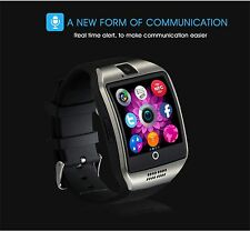 Q18 Bluetooth Smart Watch Support SIM TF Card with FM Radio Camera NFC Black