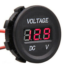 Red LED Digital Display Marine ATV Boat Car Voltmeter Voltage Meter Panel