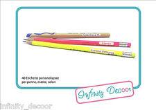 Prodotti per la scuola Etichette personalizzate per penne, matite, colori-40 pz