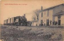 CPA 66 SAINT HIPPOLYTE LA GARE (cpa exceptionnelle avec le train venant du coté
