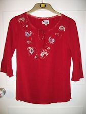 Red Top ~ Size Large ~ Energy Clothing