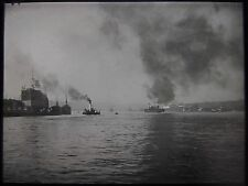 Glass Magic Lantern Slide NORWEGIAN LOCATION NO36 C1930 PHOTO NORWAY BERGEN SHIP