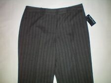 NEW womens size 12 charcoal gray pinstriped EVAN PICONE modern fit dress pants