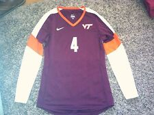 Nike Virginia Tech Hokies Volleyball Game Worn Maroon Jersey #4