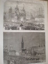 Coronation of King William I of Prussia Germany Berlin and Danzig 1861