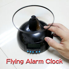 New Digital LCD Flying Alarm Clock with Helicopter Propeller Blade Creative Toy