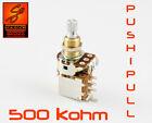 Bourns 500k push pull potentiometer resistor for guitar or bass Fender Gibson