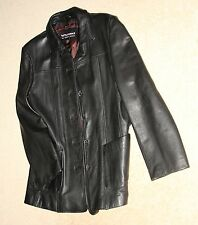 Wilson's XL Black Leather Jacket Stylish  Clubbing NY Chicago