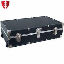 Storage Trunk Footlocker Dorm Chest College Luggage Organizer Box Travel Wheeled