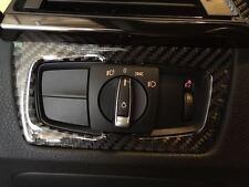 Black Carbon Fiber Headlight Switch Interior Trim M Sticker  BMW F3x F8x