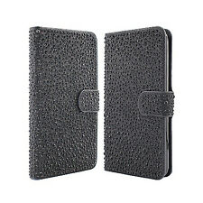 For LG K7 / Tribute 5 Premium Glitter Bling Diamond Wallet Case Pouch Accessory