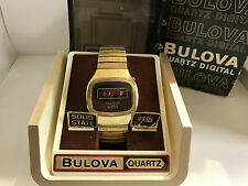 Bulova N7 RED  LED Quartz Digital Collectible Vintage Watch