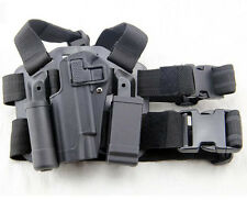 Tactical Drop Leg Left Hand Holster With Magazine Flashlish Pouch for Colt M1911