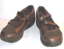 Skechers Mary Jane Brown Leather/Suede Shape Up Toning Shoes  8.5M