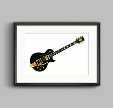 Jimmy Page's 1960 Gibson Les Paul Custom Black Beauty POSTER PRINT A1 size