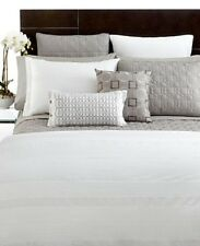 Hotel Collection Woven Pleats Full/Queen Duvet Cover WHITE R395