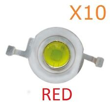 1W RED LED Diode Lamp Beads 1 Watt High power Super Bright (10 Pieces)