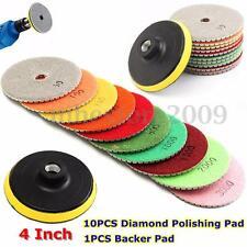Diamond Polishing Pads 4 inch Wet/Dry 11 Piece Set Granite Stone Concrete Marble
