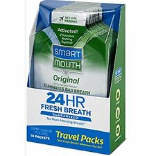SmartMouth 12-Hour Fresh Breath On The Go, Fresh Mint(10 packet)