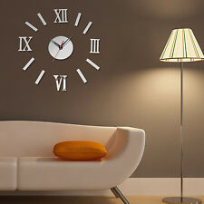 Stylish 3D DIY Clock Decoration Mirror Stickers Wall Art Home Decoration