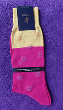 PUNTO Fine Mercerized Egyptian Cotton Socks FREE US Ship ITALY Filo Scozia Block