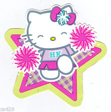 "4.5""  HELLO KITTY  PEP RALLY CHEER CHARACTER  WALL BORDER PEEL & STICK CUT OUT"
