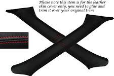 RED STITCH FITS SUBARU IMPREZA WRX STI 98-04 2X WINDSCREEN PILLAR LTHR COVERS