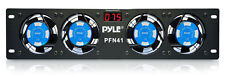 "NEW PYLE PRO PFN41 19"" Rack Mount Cooling 4 Fan System w/Temperature LED Display"