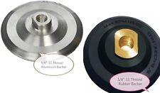 "5"" Rubber Aluminum Backer Pad 5/8-11 Thread for Diamond Polishing Pad concrete"
