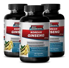Panax Ginseng Seeds - Korean Ginseng 350mg - Healthy Cholesterol Levels Caps 3B