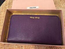 100% auth MIU MIU by PRADA wallet (Purple) NEW