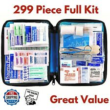 Emergency First Aid Kit 299 Piece Medical Supply Bag Survival Home Travel Car