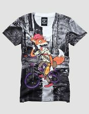 WOMENS DROP DEAD FOXY RIDER GRAFFITI HXC RARE URBAN OLI SYKES T SHIRT TOP UK S/M