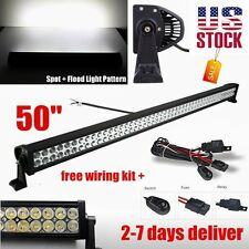 50Inch 288w Led Light Bar Flood Spot Work Lamp Offroad Fog Jeep Car SUV ATV 4WD