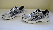 New Mens Asics GEL Contend Athletic Shoes T2F4N Size 10.5  White/Black/Blu 133J