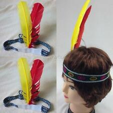 Chic Feather Headdress Indian Squaw Headband Native American Sioux Cosplay Props