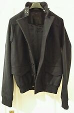 Asos Black Mens Wool Jacket Small Brand New Navy Dark Blue Double Breasted
