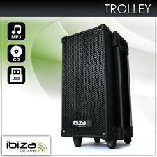 AKTIV PA ANLAGE BOX CD/MP3 PLAYER MOBIL SYSTEM USB MIKROFON TROLLEY BOX