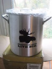 NIB Moosehead Lager Live Big Pot 12 Quart Aluminum Lobster Steamer Canada Beer